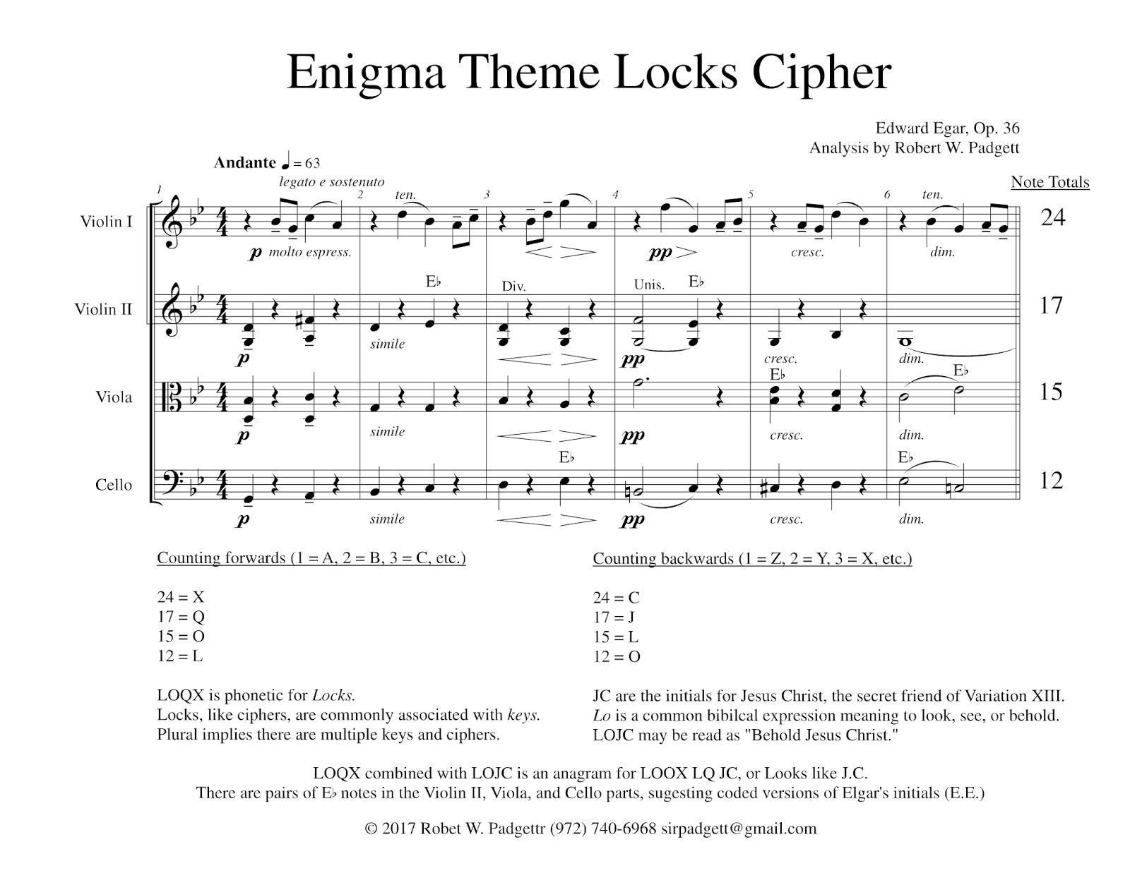 Cryptogram – Elgar's Enigmas Exposed
